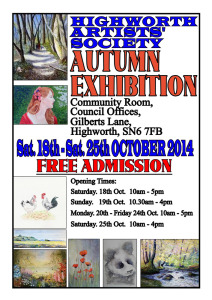 Highworth Artists Society Autumn Exhibition 2014